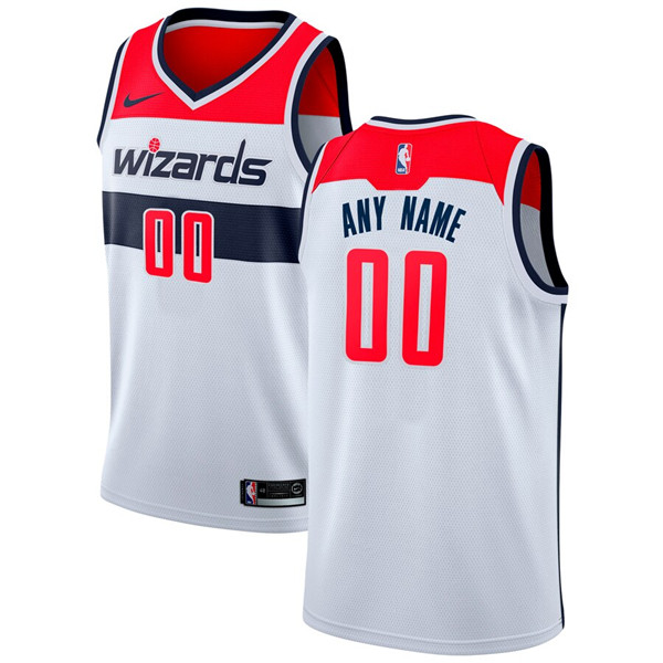Men's Washington Wizards Active Player White Custom Stitched NBA Jersey