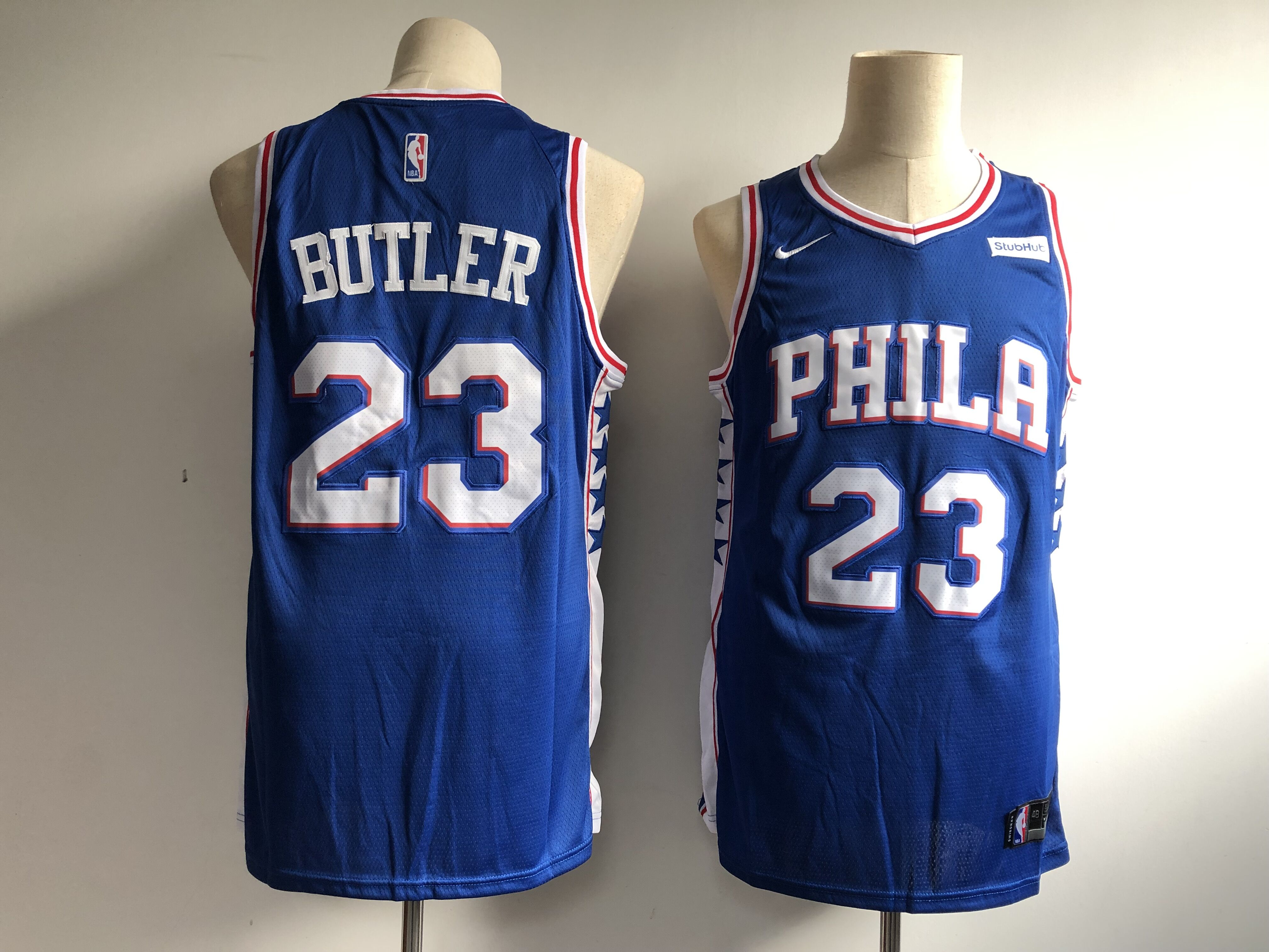 Men's Philadelphia 76ers #23 Jimmy Butler Royal Icon Edition Swingman Stitched NBA Jersey