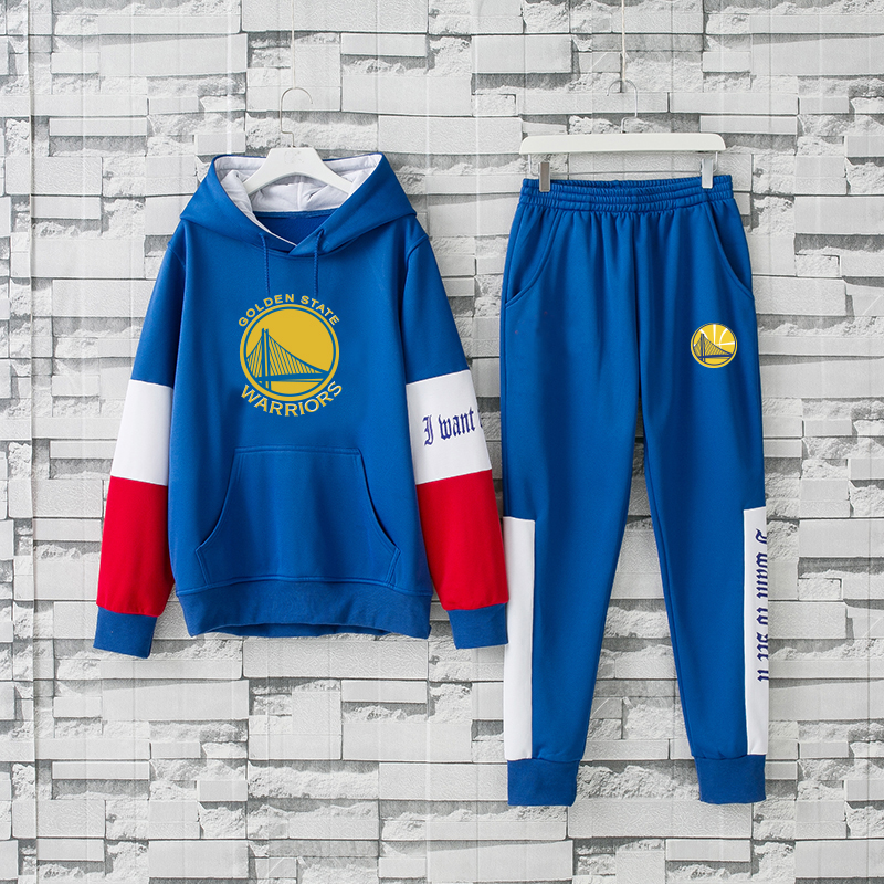 Men's Golden State Warriors 2019 Blue Tracksuits Hoodie Suit