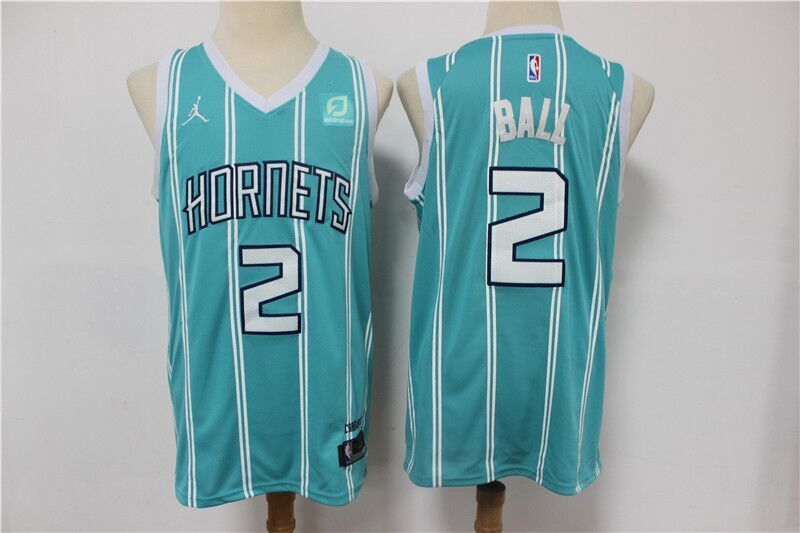 Men's Charlotte Hornets #2 LaMelo Ball Blue Stitched NBA Jersey