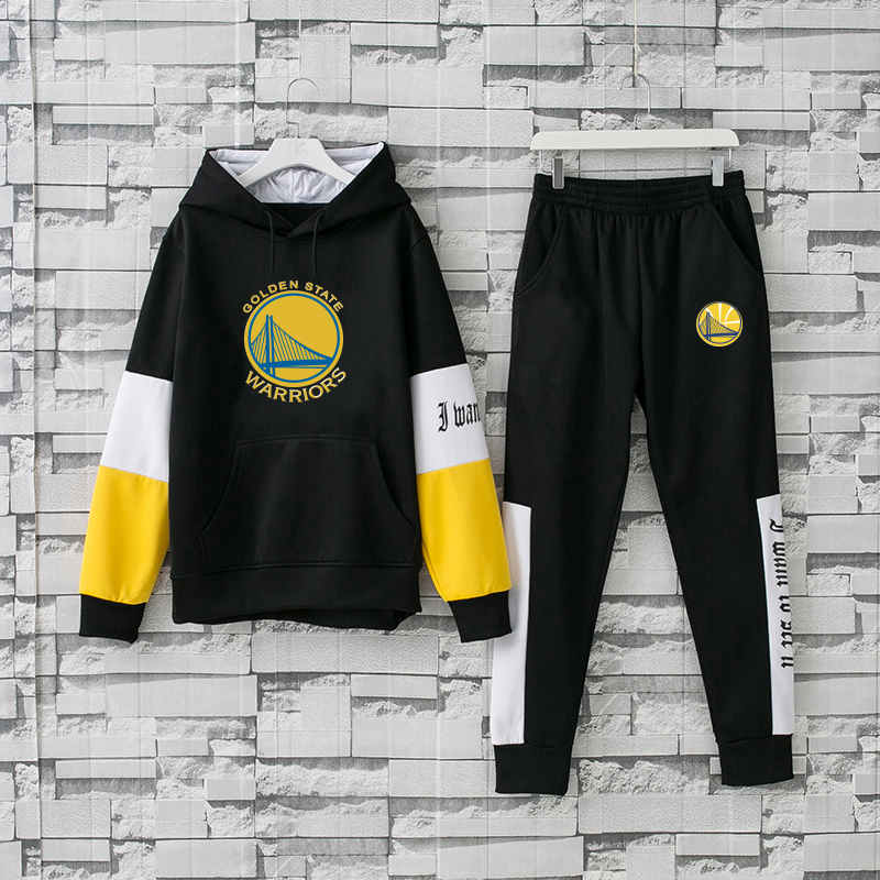 Men's Golden State Warriors 2019 Black Tracksuits Hoodie Suit