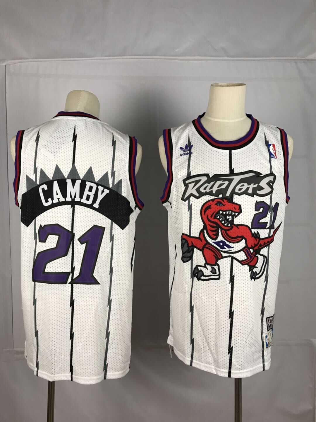 Men's Toronto Raptors #21 Marcus Camby White Swingman Stitched NBA Jersey