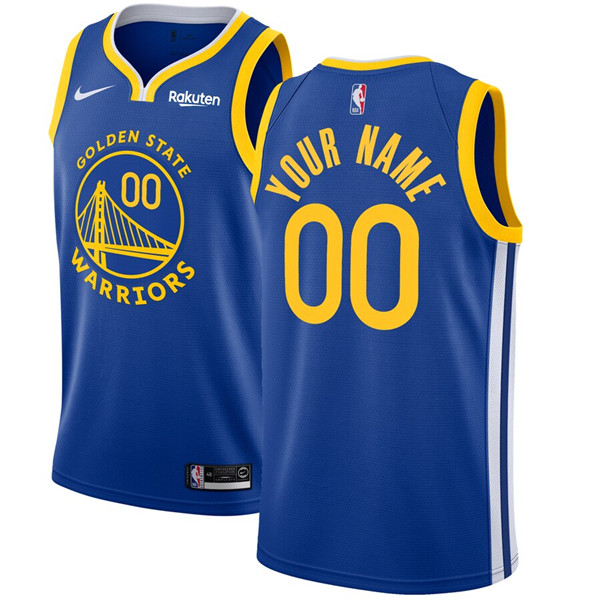 Men's Golden State Warriors Active Player Blue Custom Stitched NBA Jersey