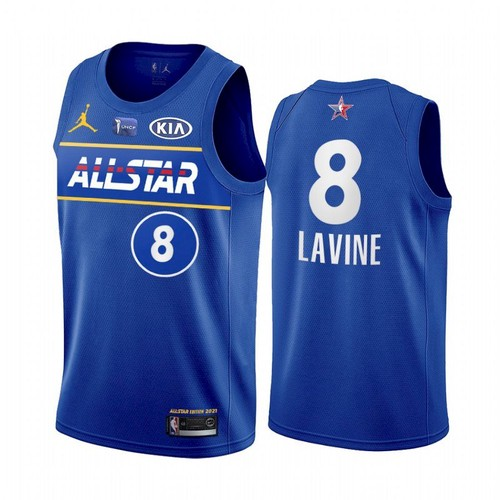 Men's 2021 All-Star #8 Zach LaVine Blue Eastern Conference Stitched NBA Jersey