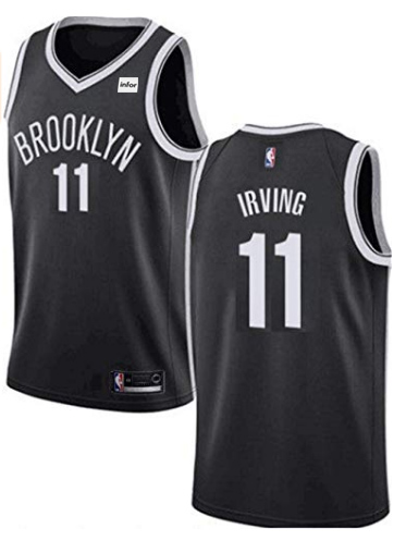 Men's Brooklyn Nets #11 Kyrie Irving Black Stitched NBA Jersey