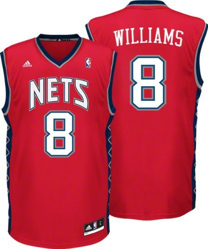Nets #8 Deron Williams Red Revolution 30 Stitched NBA Jersey