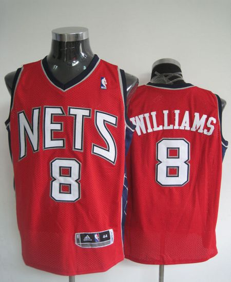 Revolution 30 Nets #8 Deron Red Williams Stitched NBA Jersey