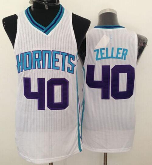 Revolution 30 Hornets #40 Cody Zeller White Stitched NBA Jersey