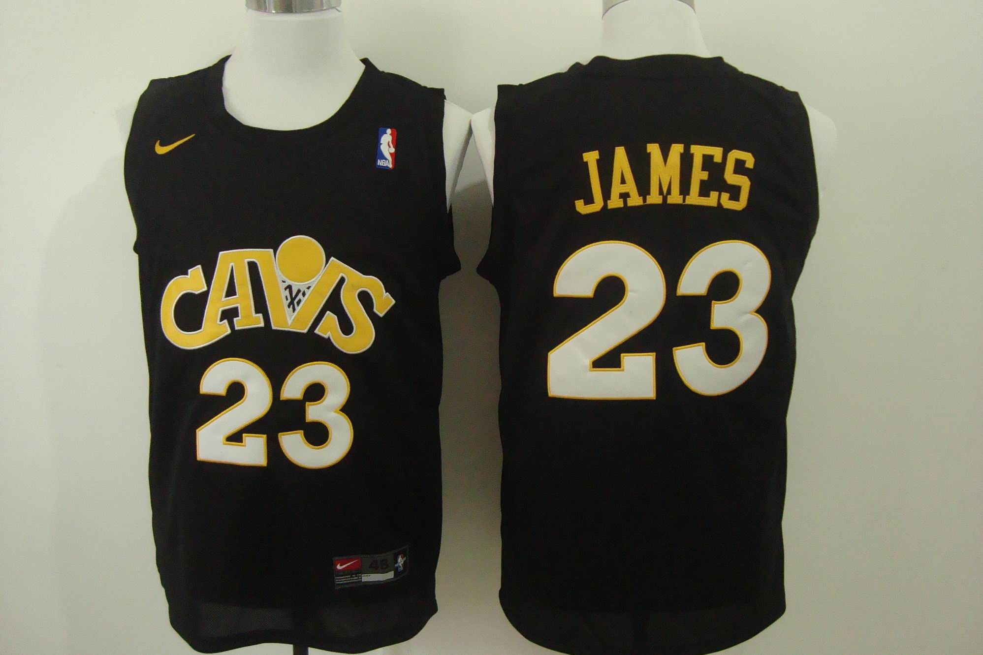 Men's Nike Cleveland Cavaliers #23 LeBron James Black Stitched NBA Jersey