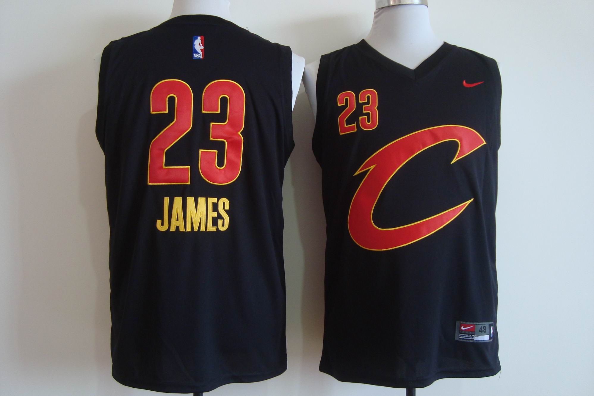 Men's Nike Cleveland Cavaliers #23 LeBron James Black Stitched NBA C Jersey