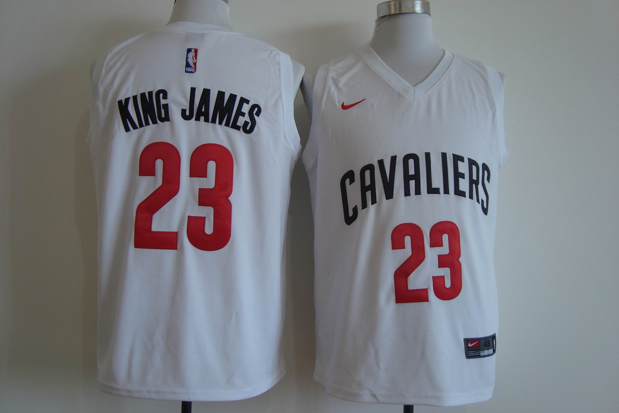 Men's Nike Cleveland Cavaliers #23 LeBron James White King James Stitched NBA Jersey