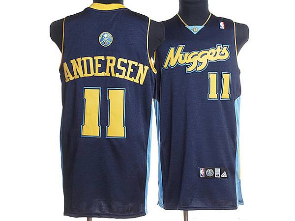Nuggets #11 Chris Andersen Stitched Dark Blue NBA Jersey