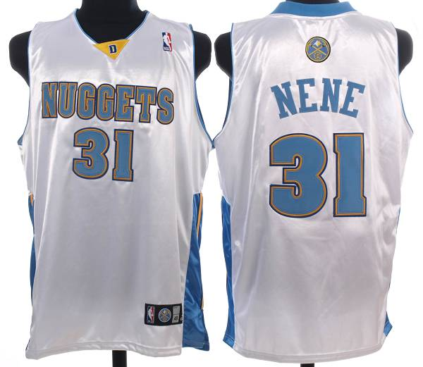 Nuggets #31 Nene Hilario Stitched White NBA Jersey