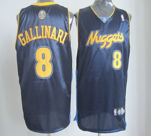 Nuggets #8 Danilo Gallinari Dark Blue Revolution 30 Stitched NBA Jersey