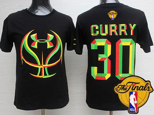 Warriors #30 Stephen Curry Black Candy Under Armour The Finals Patch Stitched NBA Jersey