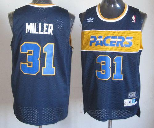 Mitchell and Ness Pacers #31 Reggie Miller Blue Stitched NBA Jersey