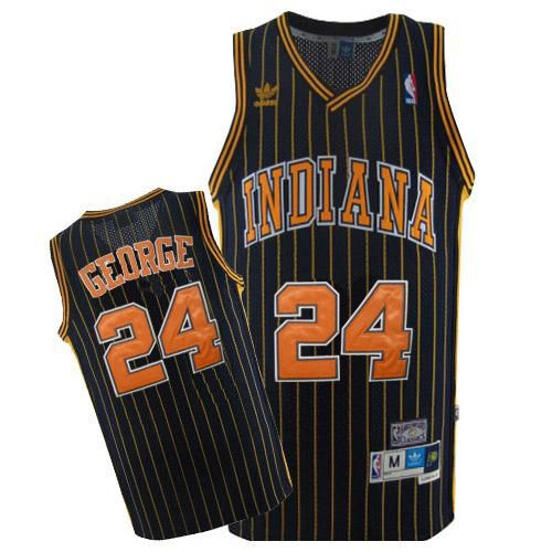 Pacers #24 Paul George Navy Blue Throwback Stitched NBA Jersey