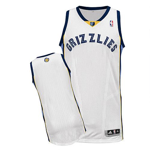 Revolution 30 Grizzlies Blank White Stitched NBA Jersey