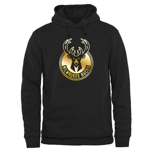 Milwaukee Bucks Gold Collection Pullover Hoodie Black