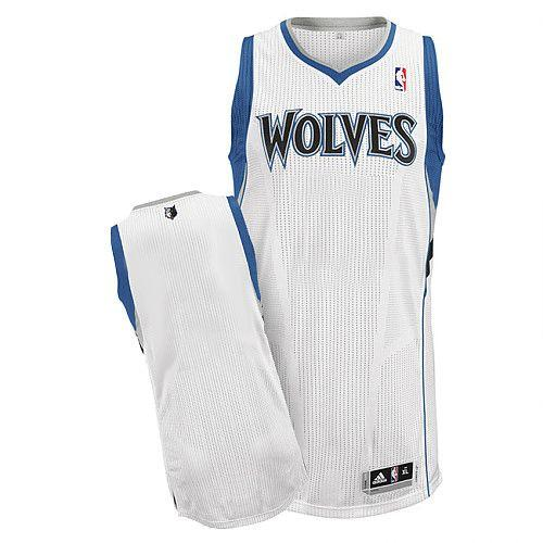 Revolution 30 Timberwolves Blank White Stitched NBA Jersey