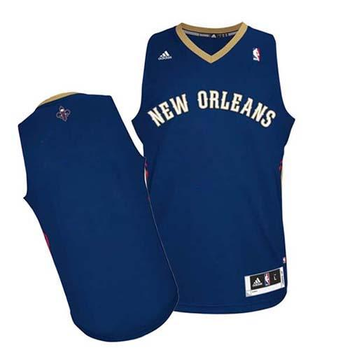 Revolution 30 Pelicans Blank Navy Stitched NBA Jersey