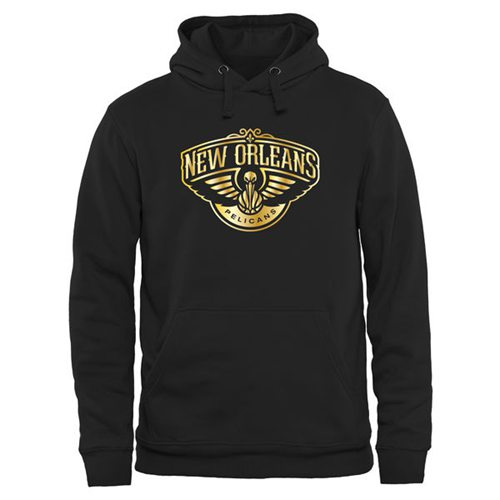 New Orleans Pelicans Gold Collection Pullover Hoodie Black