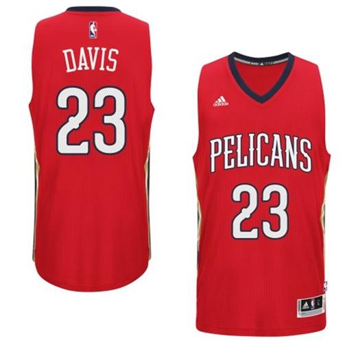 Pelicans #23 Anthony Davis Red Alternate Stitched NBA Jersey