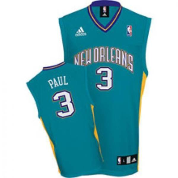 Hornets #3 Chris Paul Stitched Green NBA Jersey