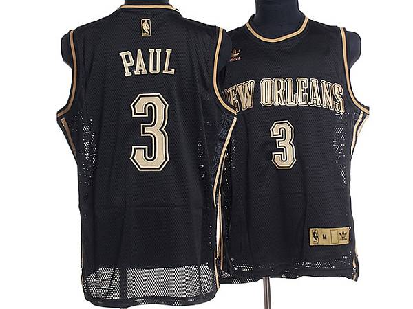 Hornets #3 Chris Paul Stitched Black Classical Style NBA Jersey