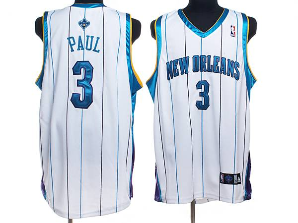 Hornets #3 Chris Paul Stitched White NBA Jersey