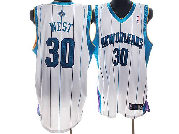 Hornets #30 David West Stitched White NBA Jersey