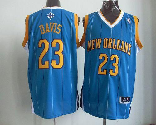 Revolution 30 Hornets #23 Anthony Davis Baby Blue Stitched NBA Jersey