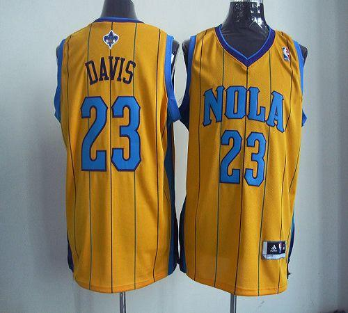 Revolution 30 Hornets #23 Anthony Davis Yellow Stitched NBA Jersey