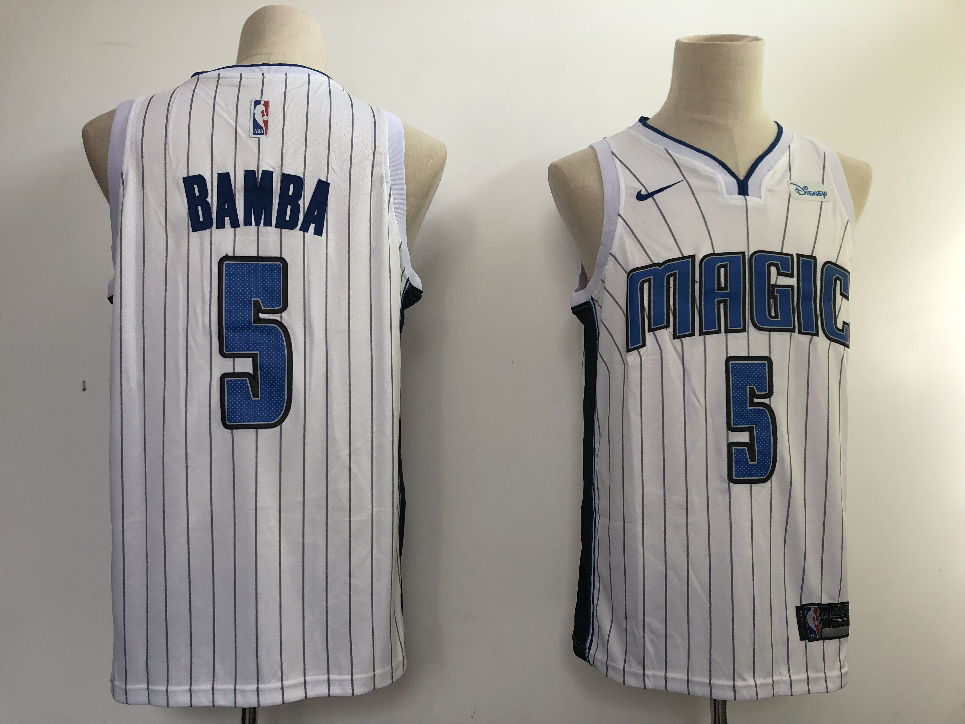 Magic #5 Mohamed Bamba White NBA Swingman Association Edition Jersey