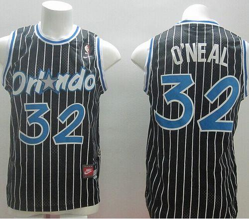 Nike Magic #32 Shaquille O'Neal Black Throwback Stitched NBA Jersey