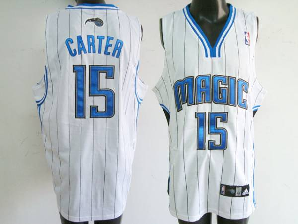 Magic #15 Vince Carter Stitched White NBA Jersey