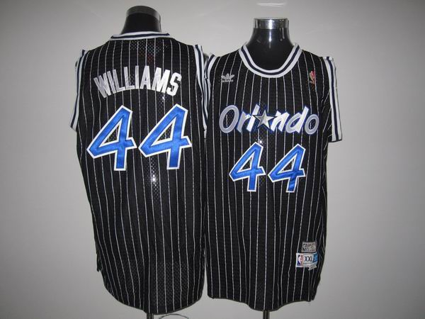 Mitchell And Ness Magic #44 Jason Williams Stitched Black Throwback NBA Jersey