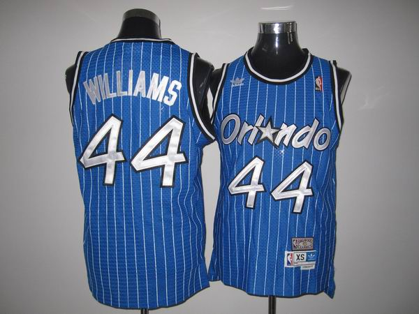 Mitchell And Ness Magic #44 Jason Williams Stitched Blue Throwback NBA Jersey