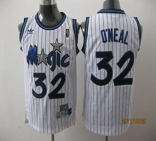 Magic #32 Shaquille O'Neal Stitched White Throwback NBA Jersey