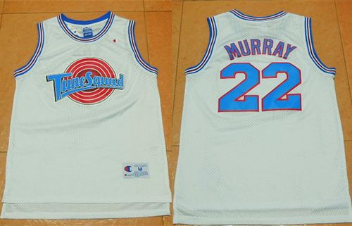 Space Jam Tune Squad #22 Bill Murray White Movie Stitched Basketball Jersey