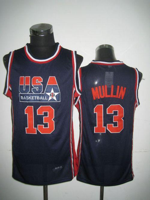 Team USA #13 Chris Mullin Dark Blue 2012 USA Basketball Retro Stitched NBA Jersey