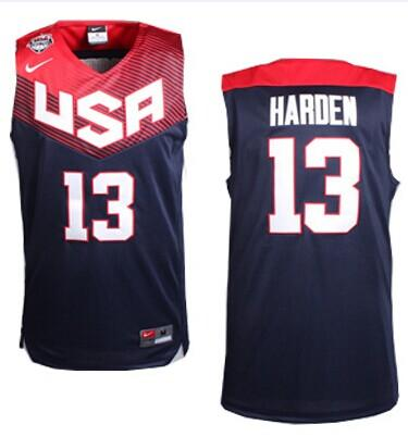 Nike 2014 Team USA #13 James Harden Dark Blue Stitched NBA Jersey