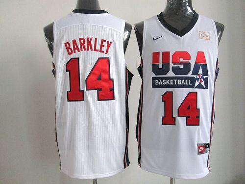 Nike Team USA #14 Charles Barkley White 2012 USA Basketball Retro Stitched NBA Jersey