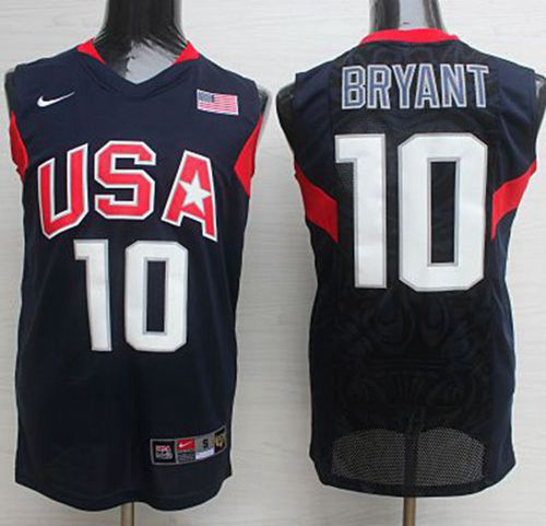 Nike 2008 Team USA #10 Kobe Bryant Dark Blue Stitched NBA Jersey