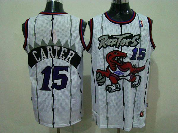 Raptors #15 Vince Carter White Swingman Stitched NBA Jersey