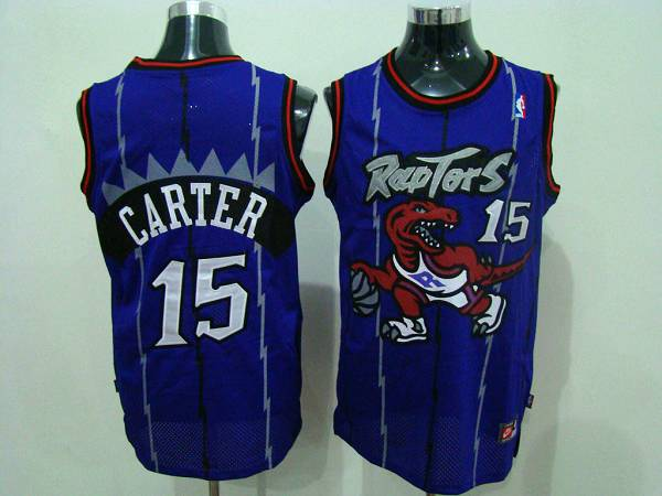 Raptors #15 Vince Carter Blue Swingman Stitched NBA Jersey