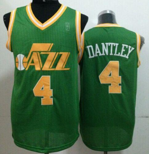 Jazz #4 Adrian Dantley Green Throwback Stitched NBA Jersey