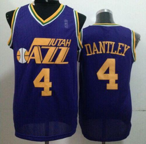 Jazz #4 Adrian Dantley Purple Throwback Stitched NBA Jersey