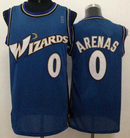 Revolution 30 Wizards #0 Gilbert Arenas Blue Stitched NBA Jersey