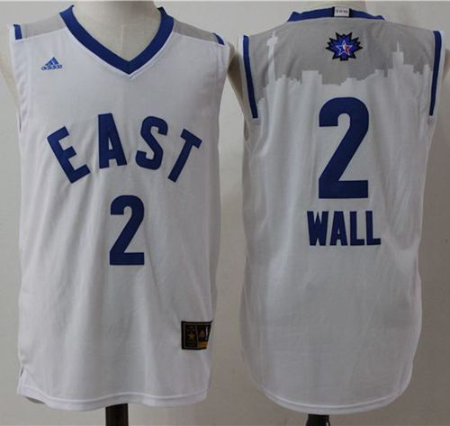 Wizards #2 John Wall White 2016 All Star Stitched NBA Jersey